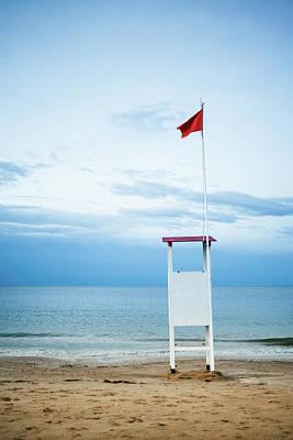 Photograph - Lifeguard Tower by Deimagine
