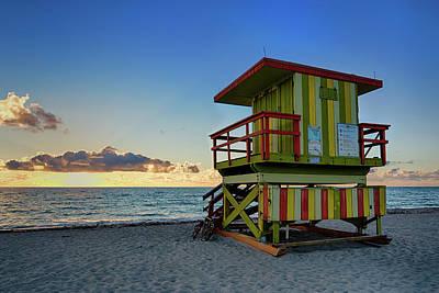 Photograph - Lifeguard Tower, Miami Beach by Tim Azar