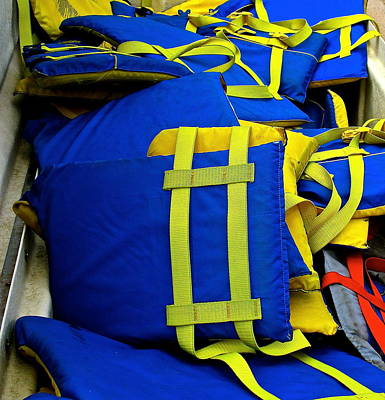 Photograph - Lifejackets by Jeff Gater