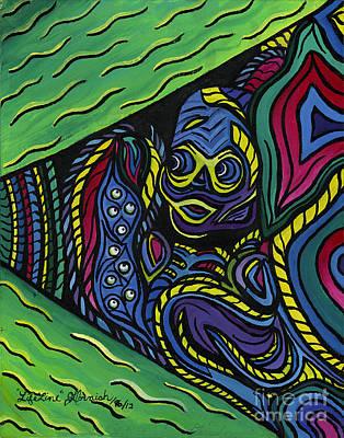 Brilliant Painting - Lifelines by Janis  Cornish