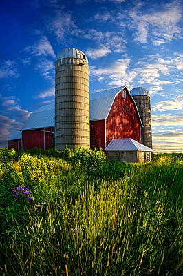 Silo Photograph - Lifelong Memories by Phil Koch