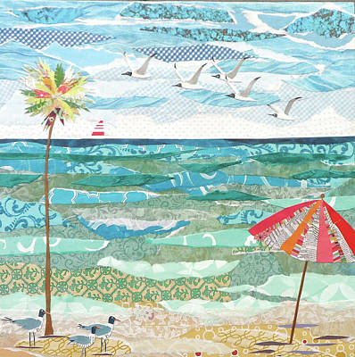 Beach Towns Painting - Life's A Beach by Jennifer Peck