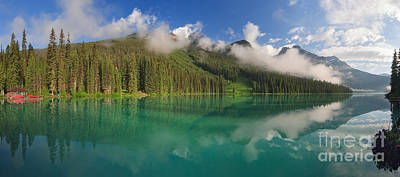 Photograph - Lifting Fog On Emerald Lake by Charles Kozierok