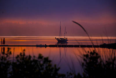 Whidbey Island Wa Photograph - Lifting Morning Fog by Ron Roberts