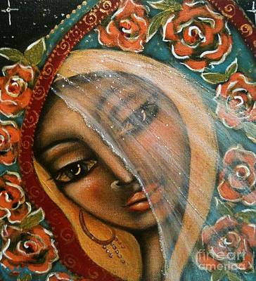 Holy Mother Mixed Media - Lifting The Veil by Maya Telford