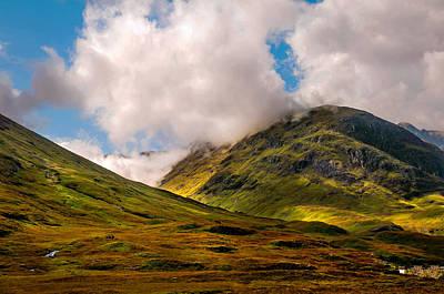 Highlands Of Scotland Photograph - Ligh Over Glencoe. Scotland by Jenny Rainbow