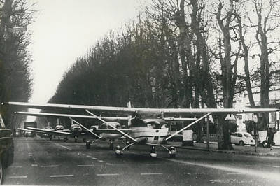 Light Aircraft In March Past Art Print by Retro Images Archive