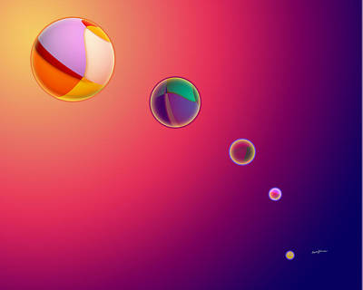 Playful Digital Art - Light And Color by Anthony Caruso