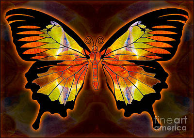 Light And Flight Abstract Butterfly Art By Omaste Witkowski  Art Print by Omaste Witkowski