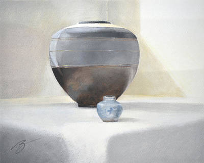 Pastel - Light And Shadow Pastel by Ben Kotyuk