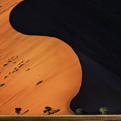 Sand Dunes Photograph - Light And Shadow by Piet Flour