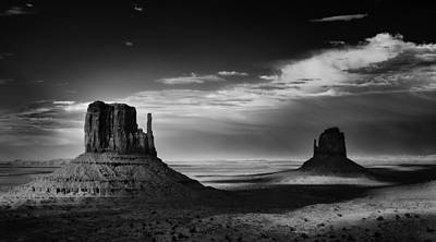 Light And Shadows In Monument Valley Art Print