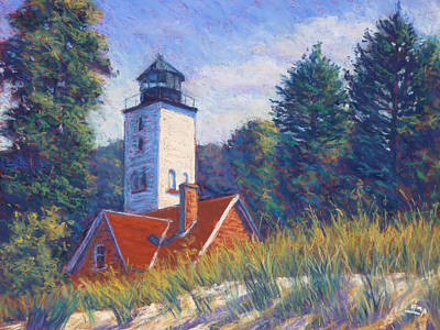 Sand Dunes Painting - Light At Presque Isle by Michael Camp
