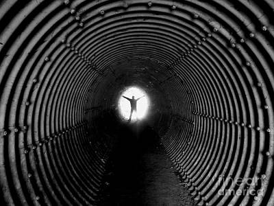 Light At The End Of The Tunnel? Art Print by C Lythgo