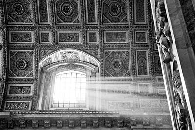 Vatican Photograph - Light Beams In St. Peter's Basillica by Susan Schmitz