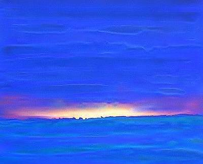 Painting - Light Behind The Horizon 2007 by Karl Leonhardtsberger