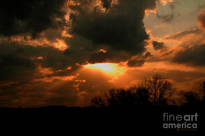 Before Dusk Photograph - Light Beyond The Clouds by Amanda Collins