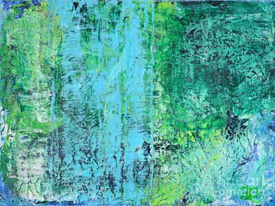 Light Blue Green Abstract Explore By Chakramoon Art Print by Belinda Capol