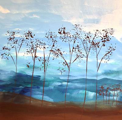 Art Print featuring the painting Light Breeze by Linda Bailey