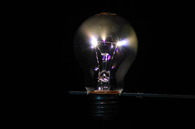 Photograph - Light Bulb Sparks 3 by Peter Kallai
