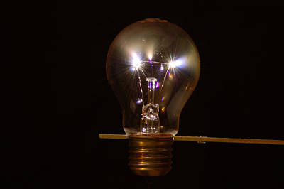 Photograph - Light Bulb Sparks 4 by Peter Kallai