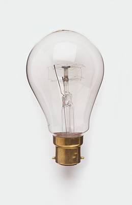 Light Bulb With Bayonet Fitting Art Print