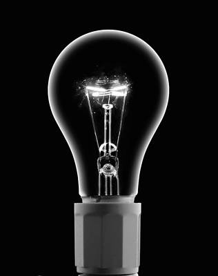 Photograph - Light Bulb With Current by Eric Kulin