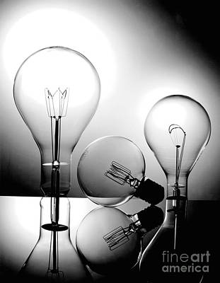 Photograph - Light Bulbs by Gary Gingrich Galleries