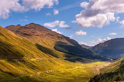 Photograph - Light Clouds Over Glen Croe. Scotland by Jenny Rainbow