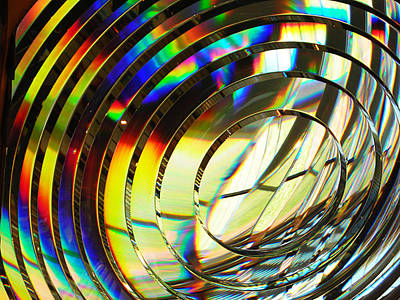 Light Color 1 Prism Rainbow Glass Abstract By Jan Marvin Studios Art Print