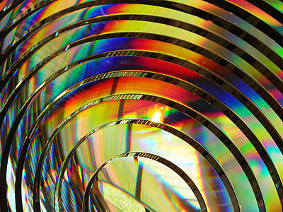 Light Color 2 Prism Rainbow Glass Abstract By Jan Marvin Studios Art Print