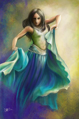 Ballet Painting - Light Dancing Over Darkness by Tamer and Cindy Elsharouni