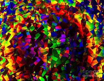 Light Emitting Diode Confetti Art Print by Imani  Morales