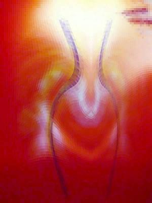 Digital Art - Light Eternal Vessel by Phoenix De Vries