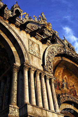 St. Marks Basilica Photograph - Light Falling On St. Marks Basilica by John Rizzuto