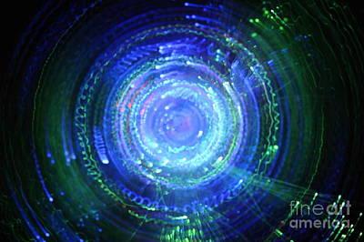 Photograph - Light From Fiber Optic Swirl by Sami Sarkis