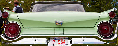 Art Print featuring the photograph Light Green Classic Car by Mick Flynn