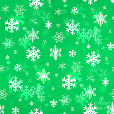 Royalty-Free and Rights-Managed Images - Light Green Snowflakes by Henrik Lehnerer