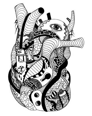 Drawing - Light Heart by Kenal Louis