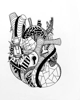 Drawing - Light Heart No. 2 by Kenal Louis