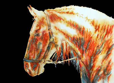 Element Light Horse In Black Art Print by J- J- Espinoza