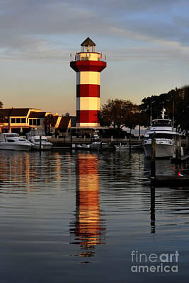 Light House At Harbour Town Print by Dan Friend