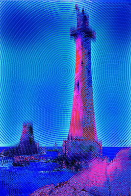 Action Lines Painting - Light House At Sunrise 2 by Tony Rubino