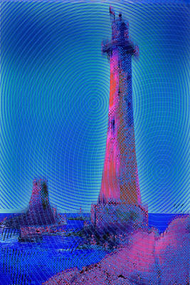 Light House At Sunset 1 Art Print by Tony Rubino