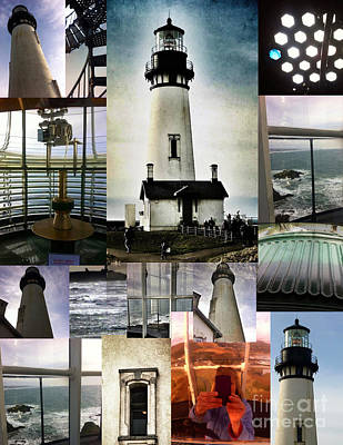 Photograph - Light House Collage by Susan Garren