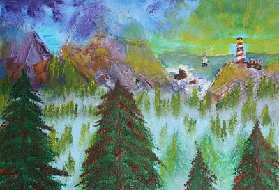Harold Greer Painting - Light House by Harold Greer