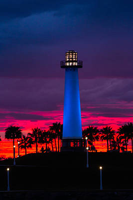 Photograph - Light House In The Firey Sky by Denise Dube