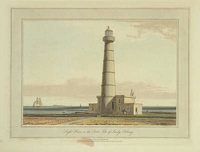 Light House On The Start Art Print by British Library