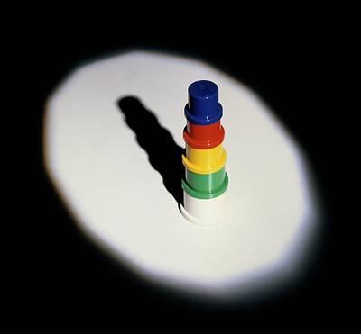 Single Object Photograph - Light Illuminating Multicoloured Object by Dorling Kindersley/uig