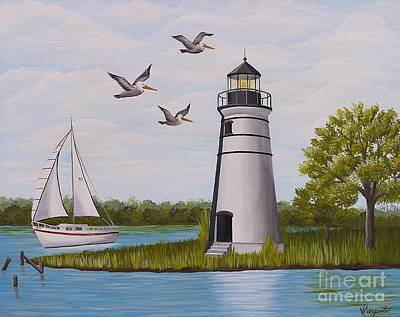 Painting - Light  In Madisonville by Valerie Carpenter